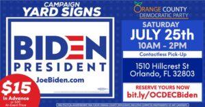 Biden Campaign Sign Pick-Up