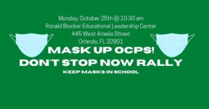 Mask Up OCPS Rally @ Ronald Blocker Educational Leadership Center