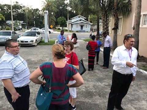 Crowd outside OCDEC Office